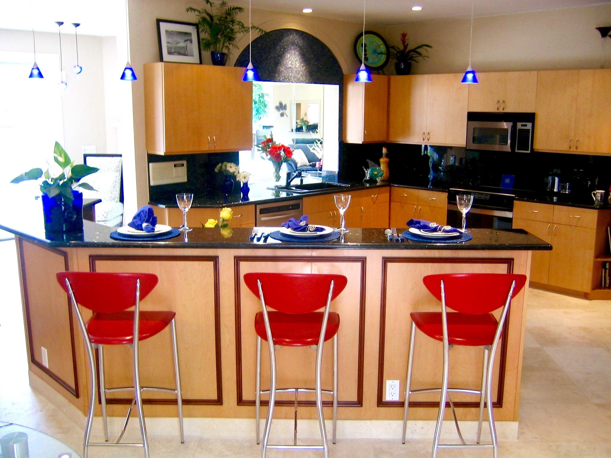 Bar Area And Kitchen Zina Samek Interiors Inc